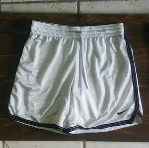 Nike Women's White with Black Basketball Shorts